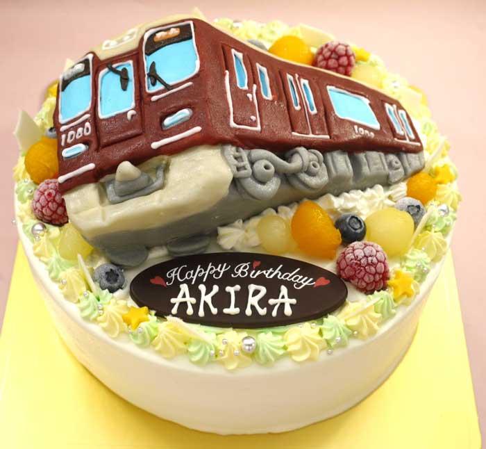電車の立体ケーキ