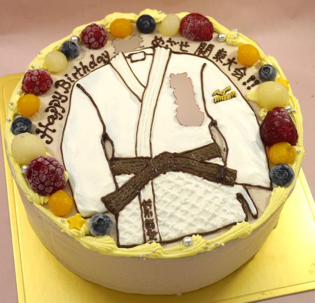 柔道 イラスト ケーキ