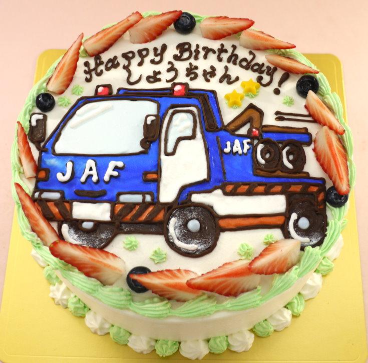 トラック 車 イラスト ケーキ