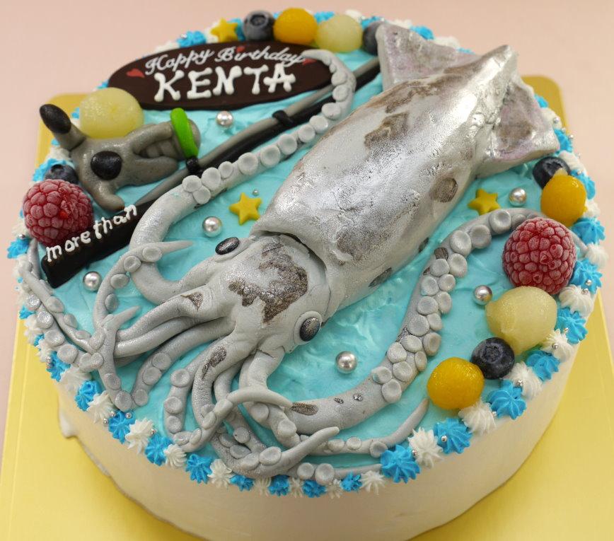 イカ 立体 ケーキ