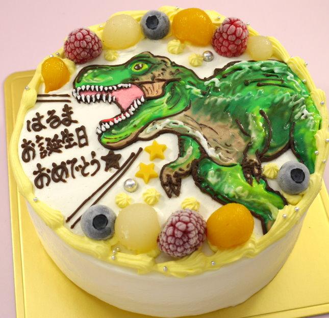 恐竜 イラスト ケーキ