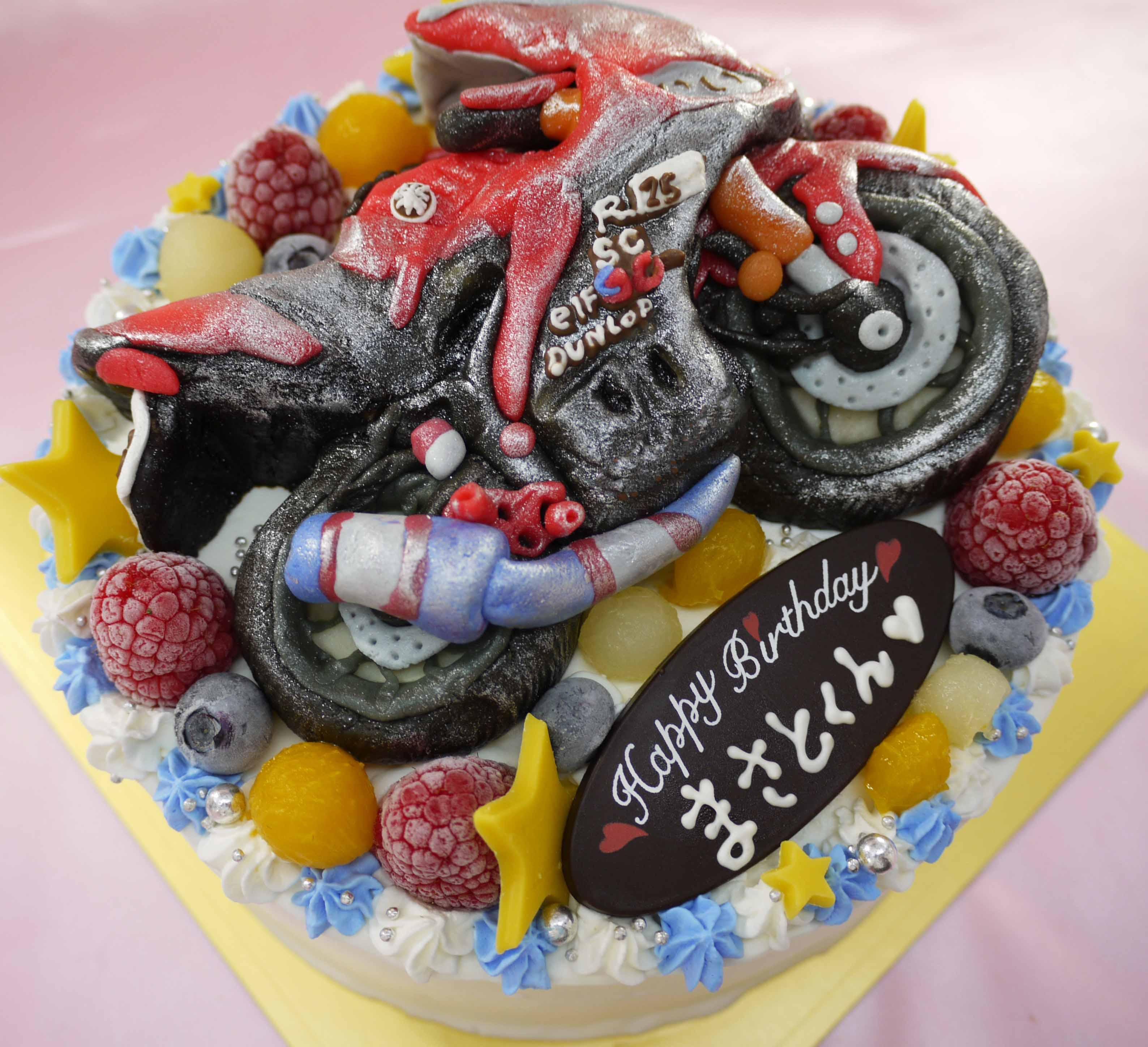 バイクの立体ケーキ