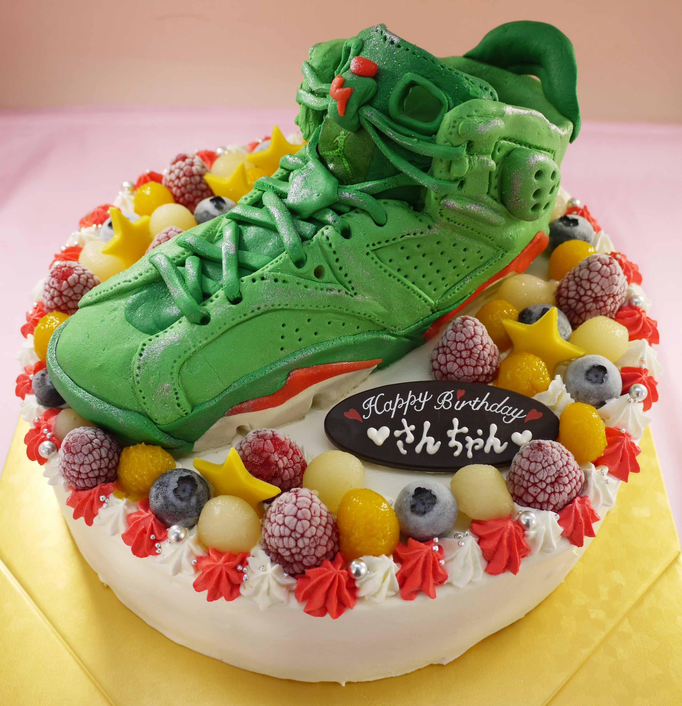 靴、バスケットシューズの立体ケーキ