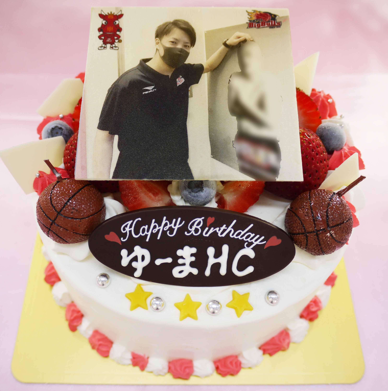 岩手ビッグブルズ吉田 優磨ヘッドコーチのケーキ