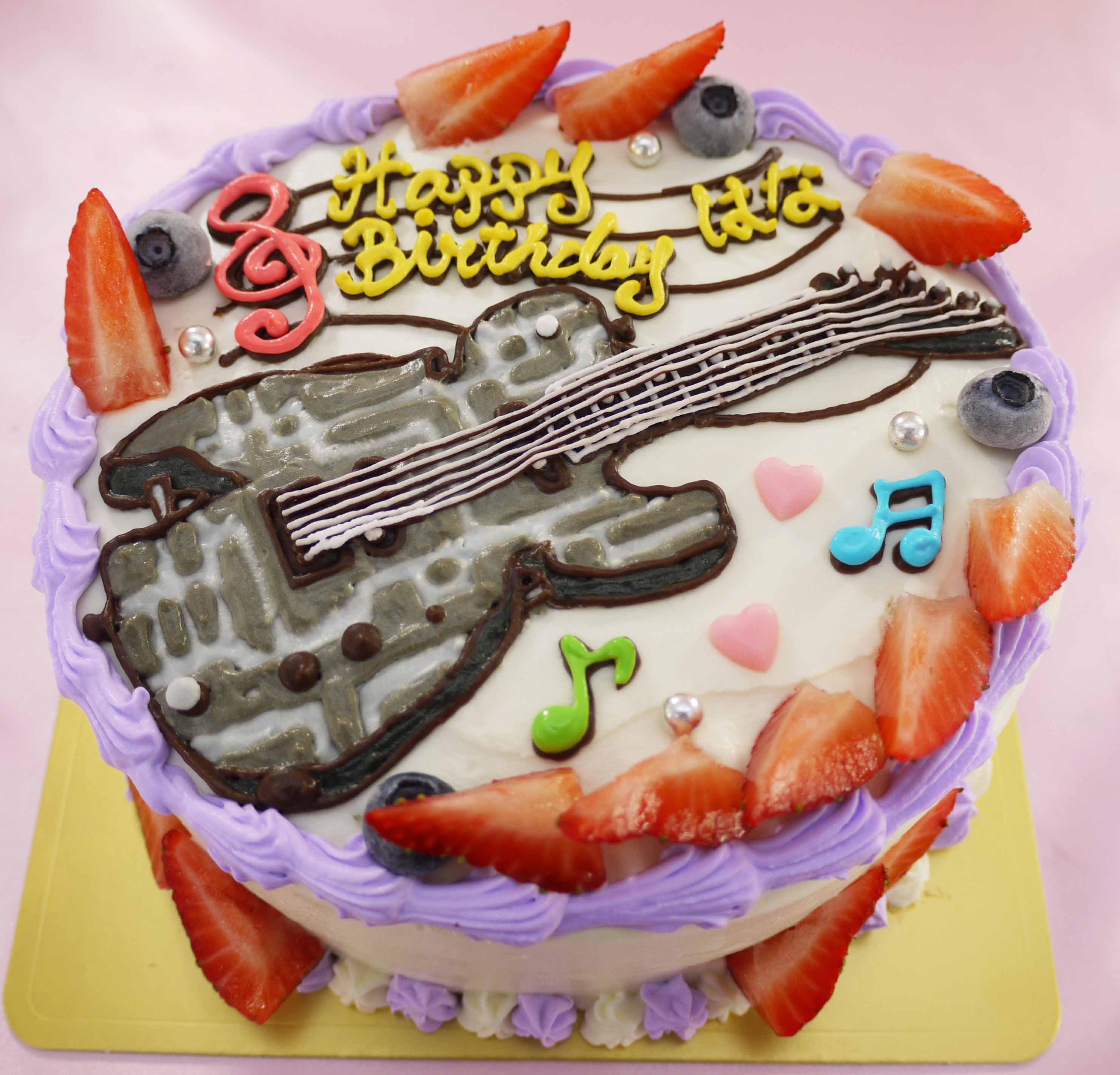 ギターのイラストケーキ