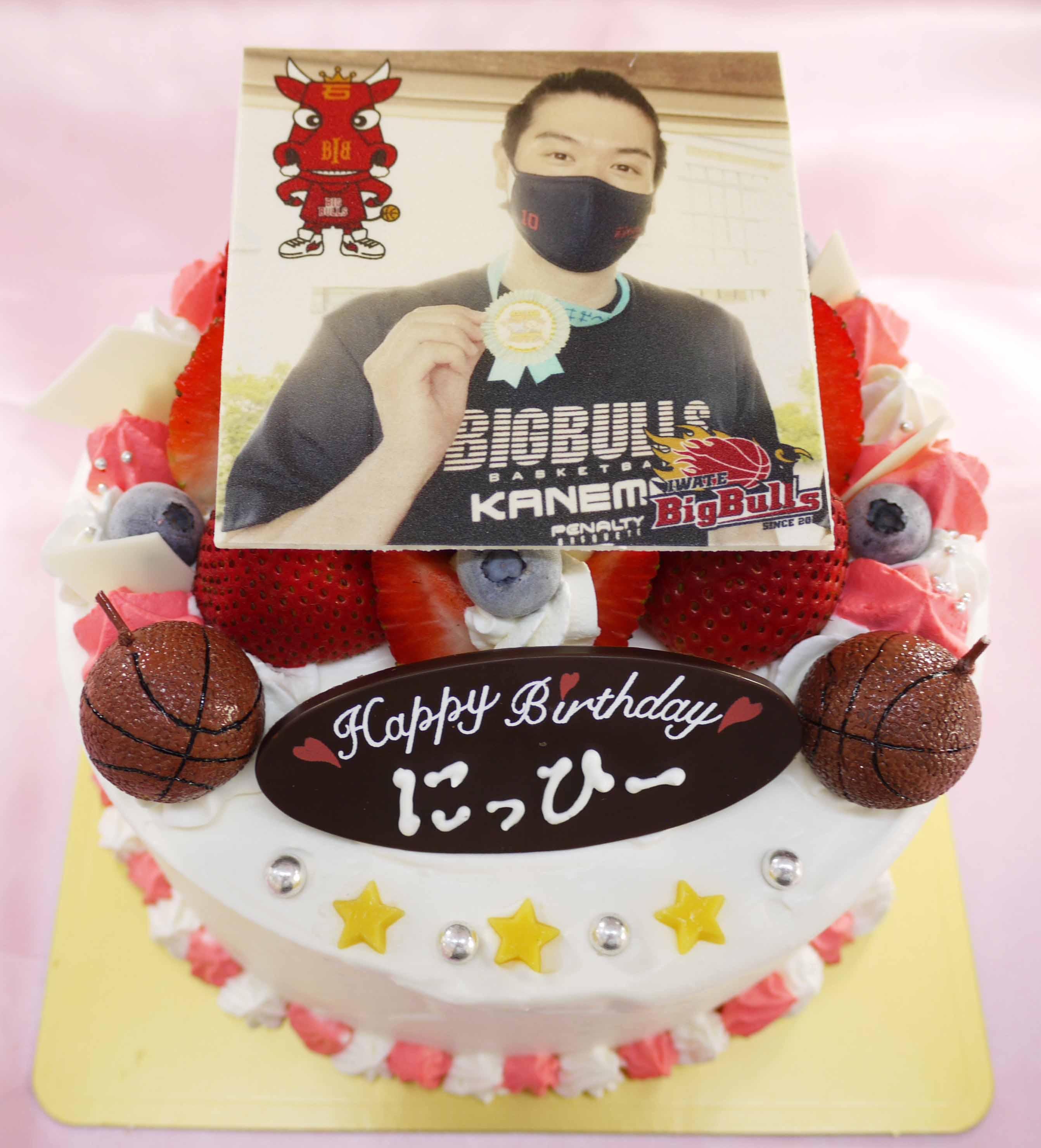 岩手ビッグブルズ仁平拓海選手の誕生日ケーキ