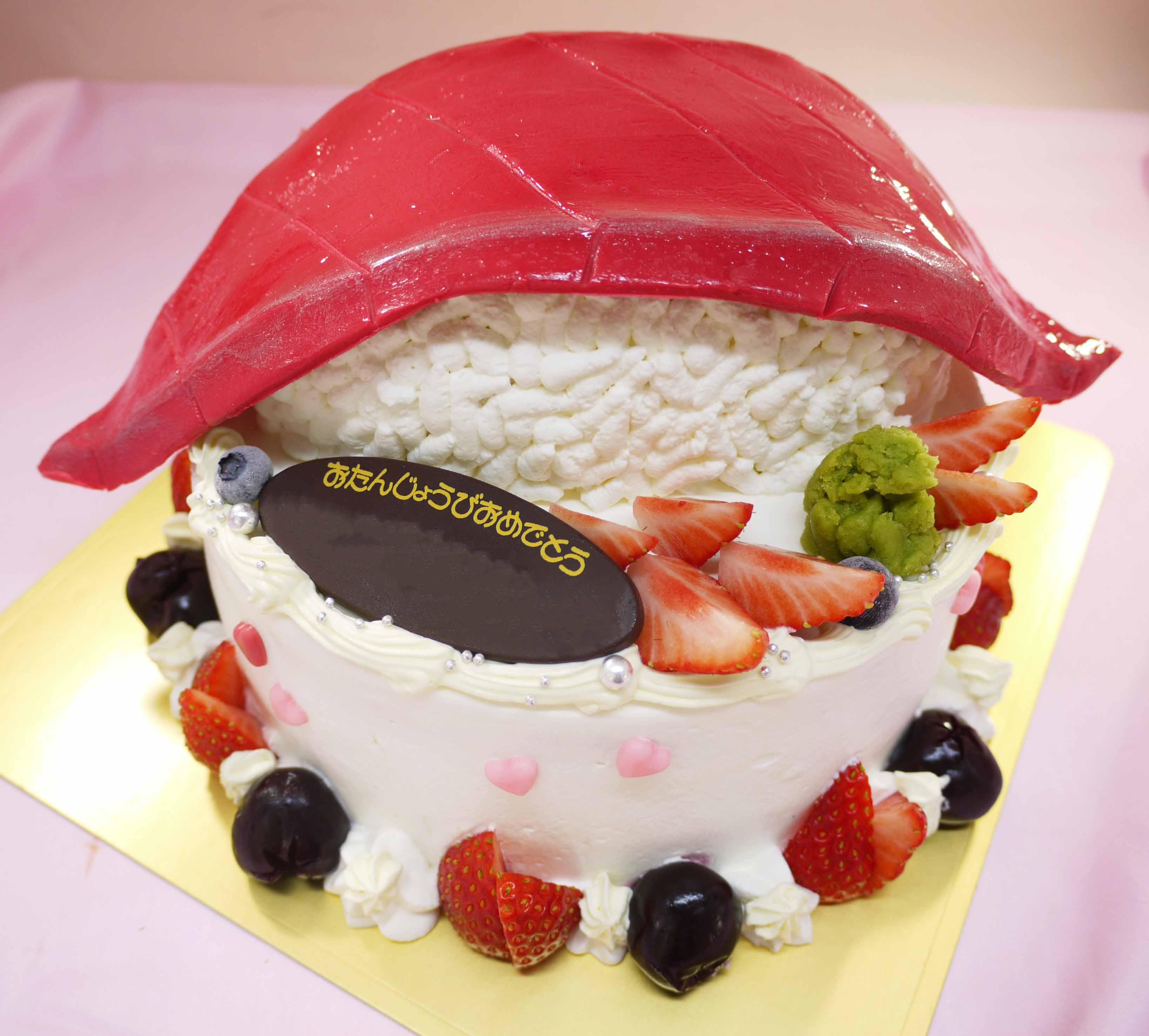 マグロ寿司の立体ケーキ