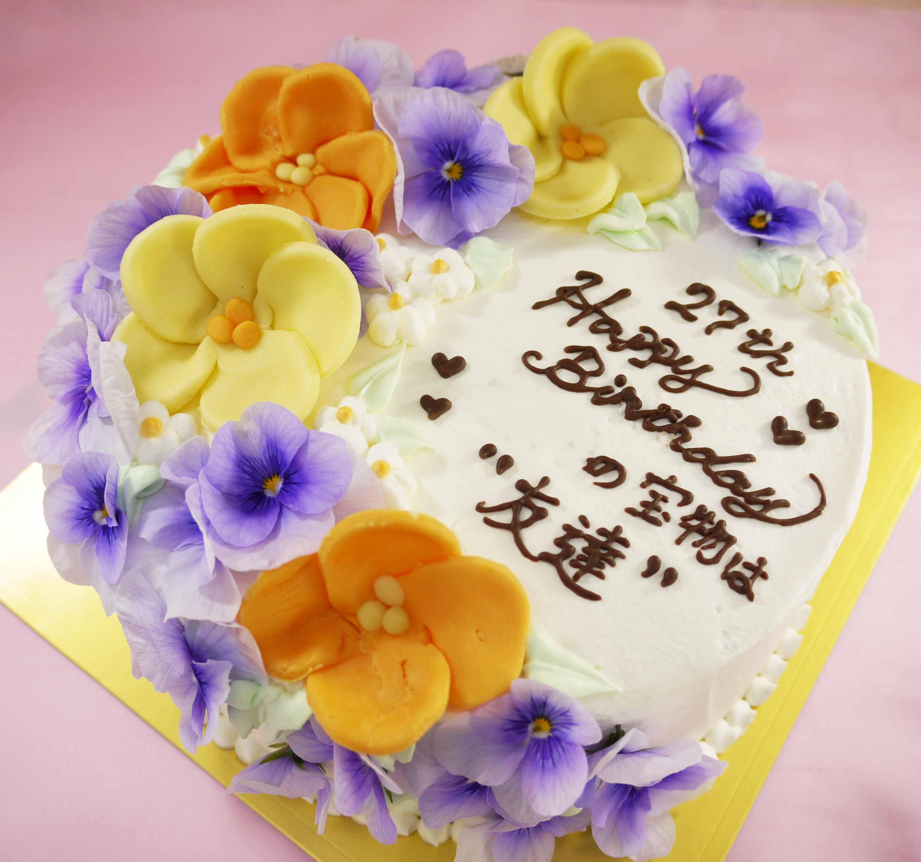 食べれる花のケーキ