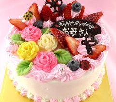 お花畑のケーキ【5号4~5人用¥4,100~】