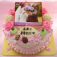 ウェディング写真ケーキ【4号~】