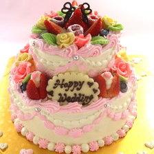 ウェディング2段ケーキ【下5号~】