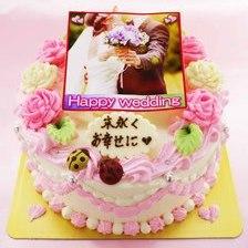 ウェディング写真ケーキ【4号2~3人用¥3,900~】