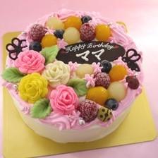 お花畑のケーキ