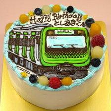 【全国配送】電車のイラストケーキをお作りしました