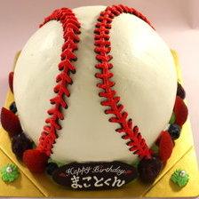 野球ボールの立体ケーキ