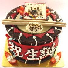 さんさ太鼓の立体ケーキ