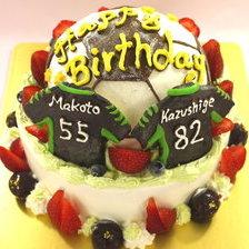 サッカーボール立体ケーキ