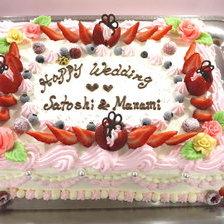 【岩手県】スクエアタイプのウェディングケーキをお作りしました