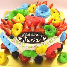 ボルタリングの立体ケーキ