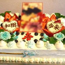 【岩手県盛岡市】和の写真ウェディングケーキをお作りしました