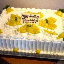 【岩手県盛岡市】メロンのウェディングケーキをお作りしました