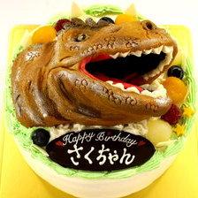 【立体3Dケーキ】恐竜の立体ケーキを作りました!