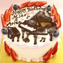ピアノのイラストケーキ♪