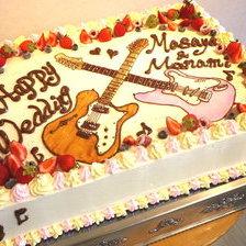 【岩手県】ギターのイラスト・ウェディングケーキをお作りしました