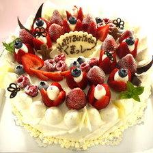 【岩手県】苺いっぱいのケーキ。10号サイズ(30㎝)でお作りしました