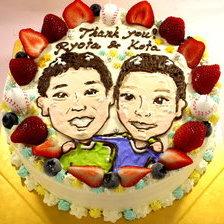 似顔絵2体描ケーキ♪