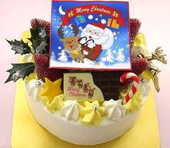 クリスマス写真ケーキ