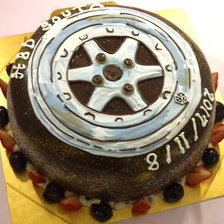 タイヤのケーキ