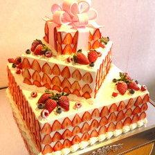 【岩手県盛岡市】タワータイプのウェディングケーキ(ジュエルボックス3段)をお作りしました