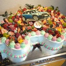 【二次会・パーティ用・盛岡市】車の大型パーティ用ケーキをお作りしました