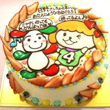 イラストケーキ2体描き