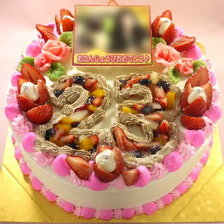 【写真付き】数字ケーキに写真乗せ!