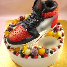 靴の立体ケーキ【6号~】