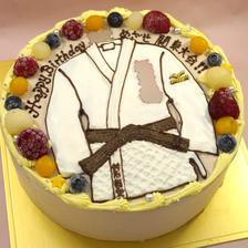 【全国配送】柔道着のイラストケーキをお作りしました