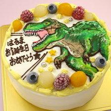 【全国配送】ティラノサウルスのイラストケーキをお作りしました