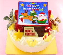 ⑤クリスマス写真ケーキ