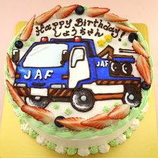 【店頭受取】トラックのイラストケーキを作りました!