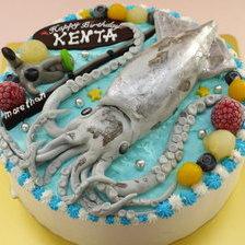 【全国配送】イカの立体ケーキをお作りしました
