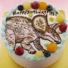 【全国配送】トリケラトプスのイラストケーキをお作りしました