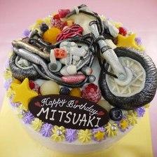 【全国配送】バイクの立体ケーキを作りました②