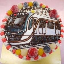 【全国配送】電車のイラストケーキを作りました