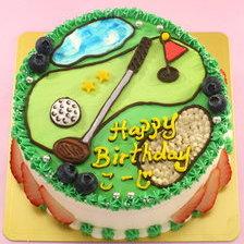 ゴルフのイラストケーキ【5号~】