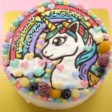 ユニコーンのイラストケーキ【5号~】