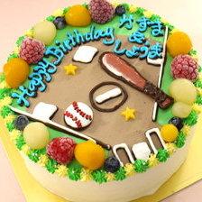 野球グラウンドのイラストケーキ【5号~】