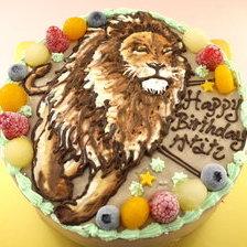 動物のイラストケーキ【5号~】