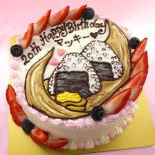 【店頭受取】おにぎりのイラストケーキを作りました